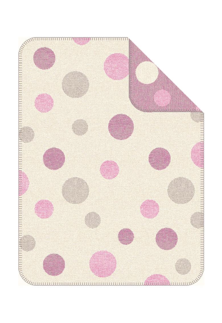 SOliver Patura alb fildes cu roz mineral si model cu buline