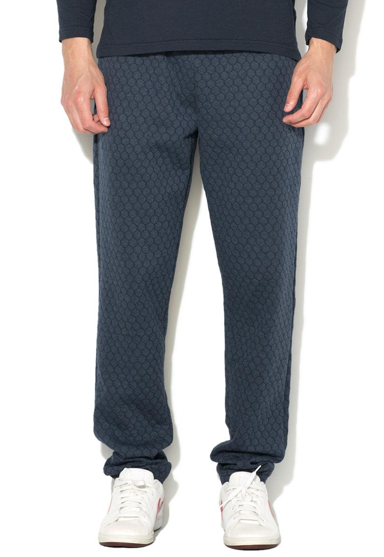 Emporio Armani Pantaloni sport de casa bleumarin prafuit cu mode