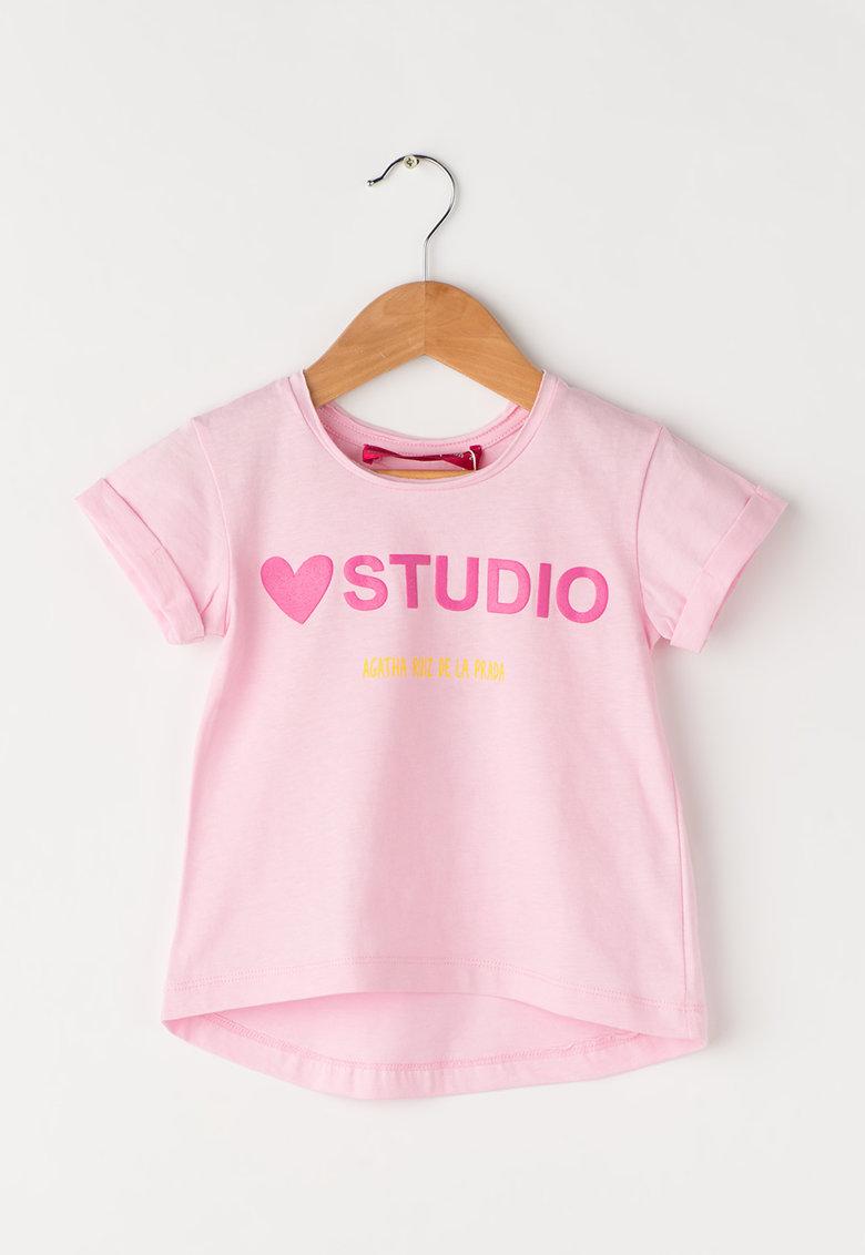 Agatha Ruiz de la Prada Tricou roz cu imprimeu text