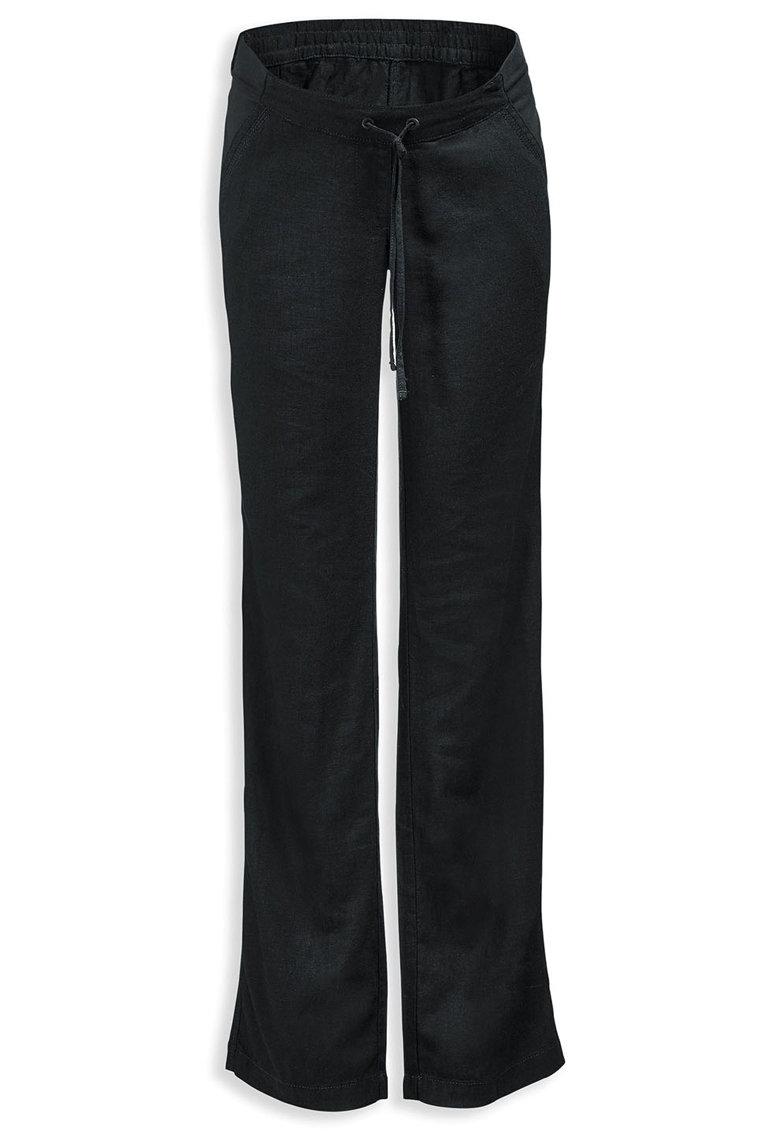Pantaloni negri din amestec de in pentru gravide