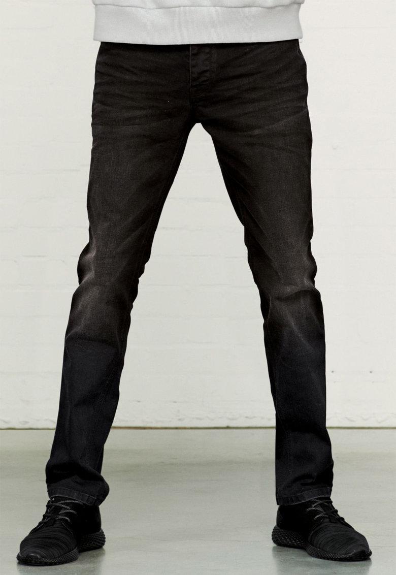 Jeansi negri elastici cu aspect decolorat de la NEXT
