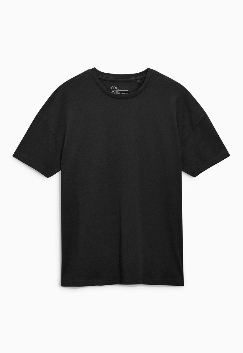 Tricou negru cu decolteu la baza gatului