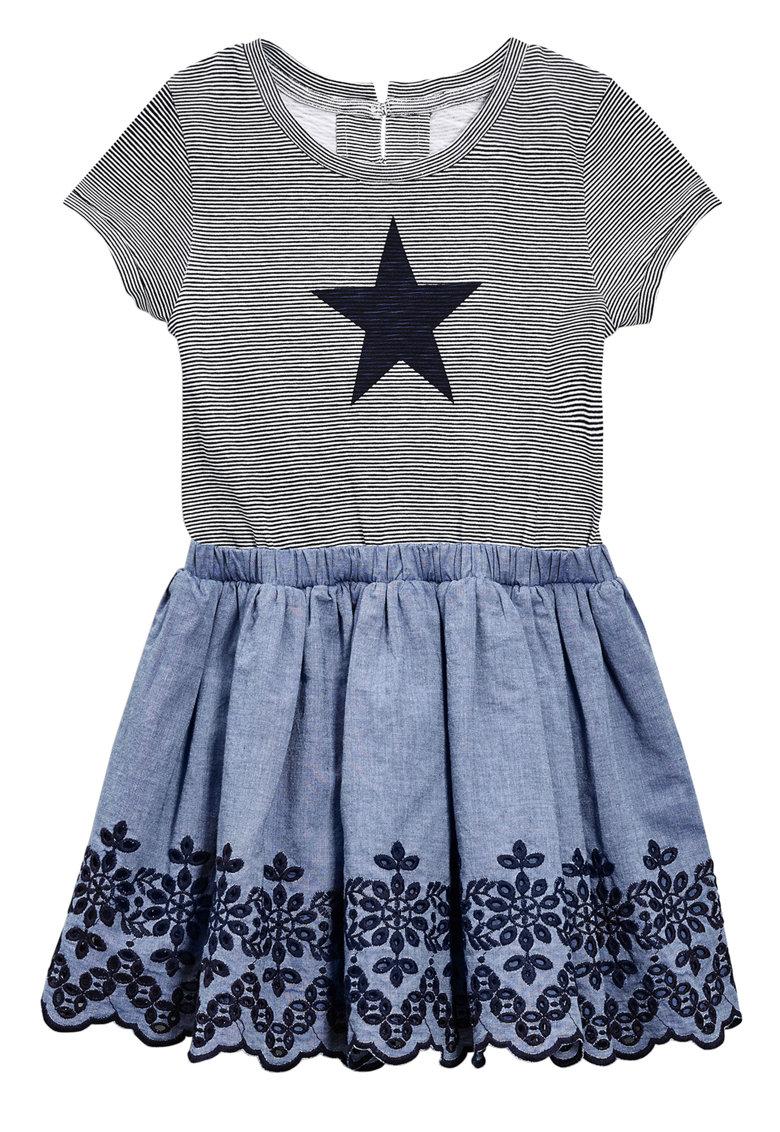 NEXT Rochie 2in1 gri cu albastru Star