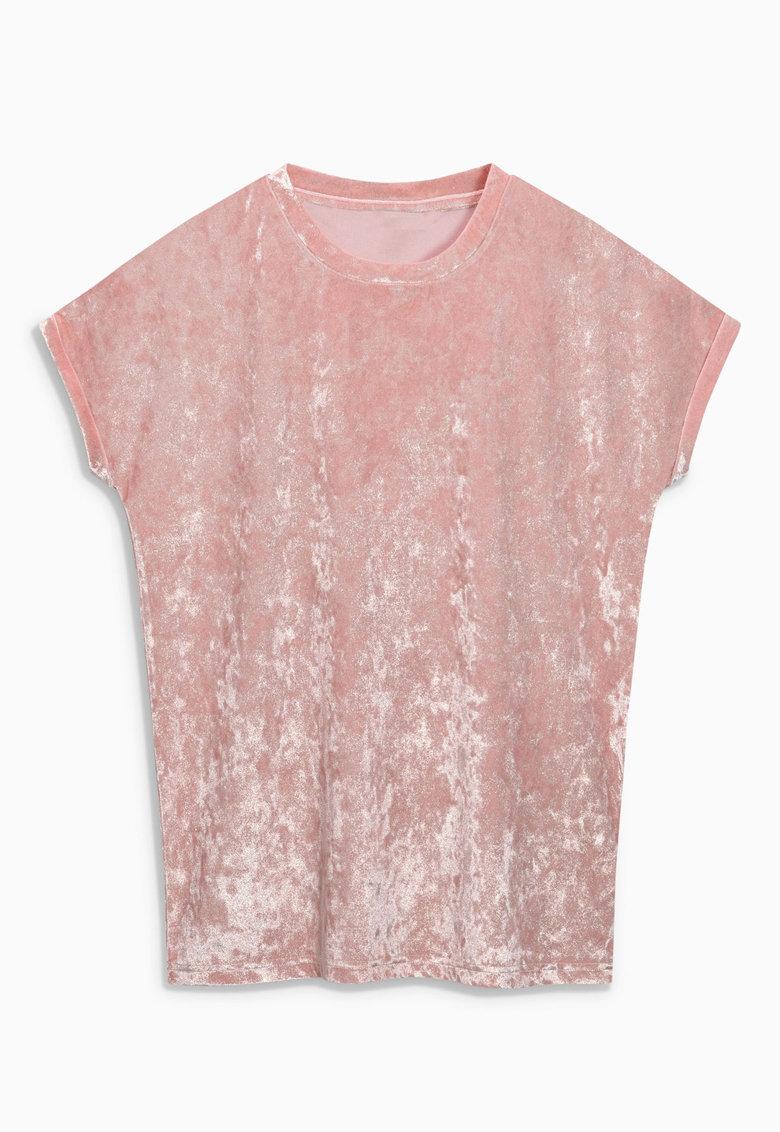 NEXT Tricou roz prafuit catifelat