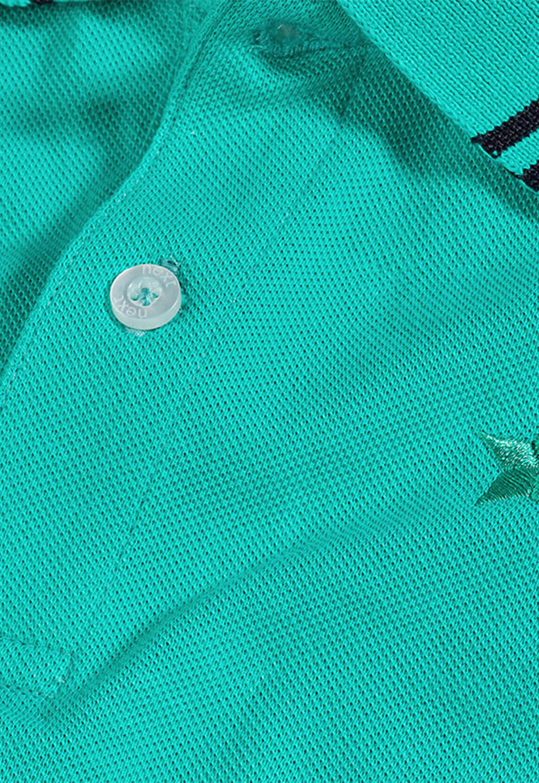 NEXT Tricou polo verde teal
