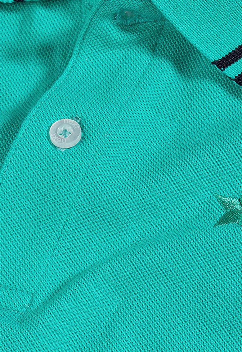 NEXT Tricou polo verde teal