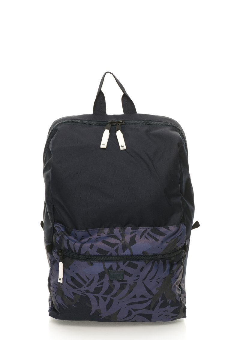 G-Star Raw Rucsac bleumarin cu violet si model vegetal Estan