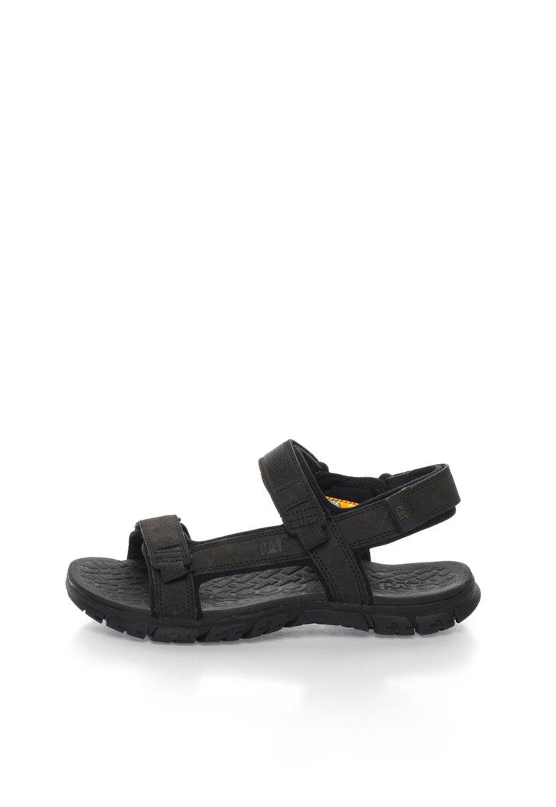 Sandale negre de piele intoarsa Atchinson