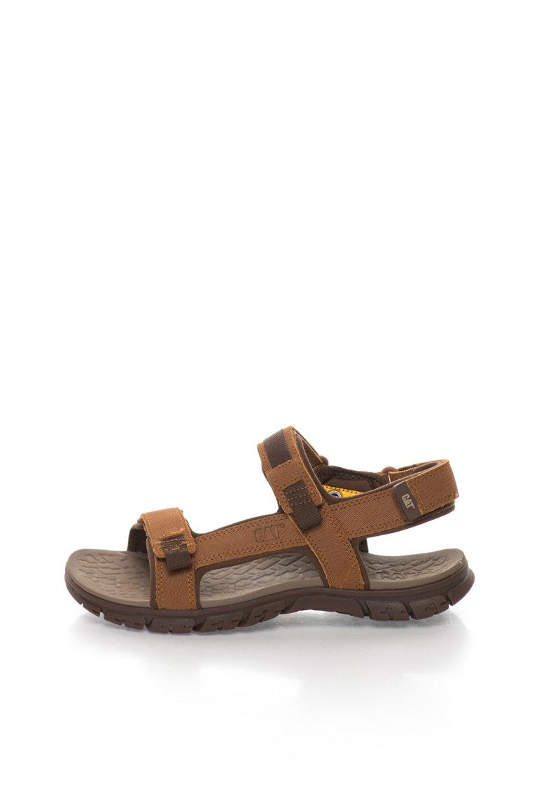 Sandale maro de piele intoarsa Atchinson