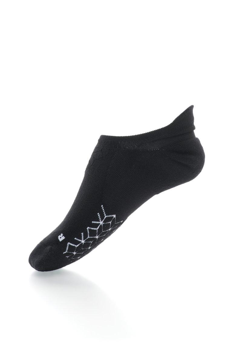 Nike Sosete foarte scurte negru cu alb pentru alergare