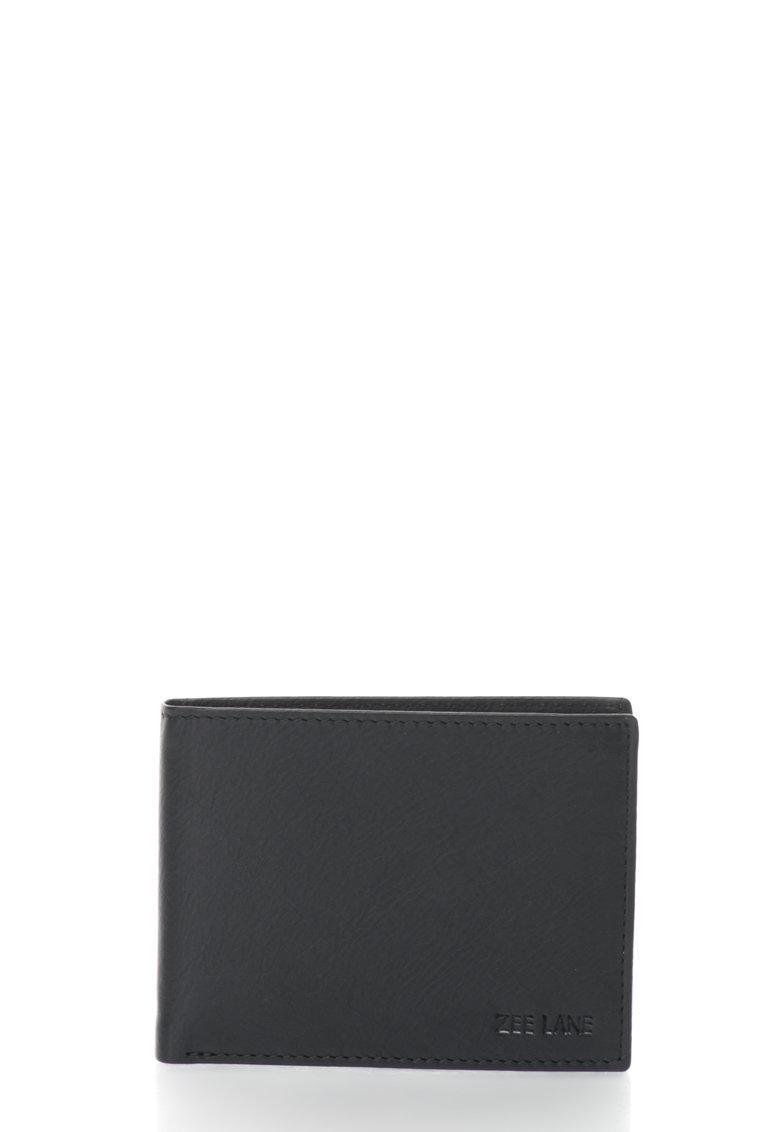Zee Lane Portofel pliabil negru de piele
