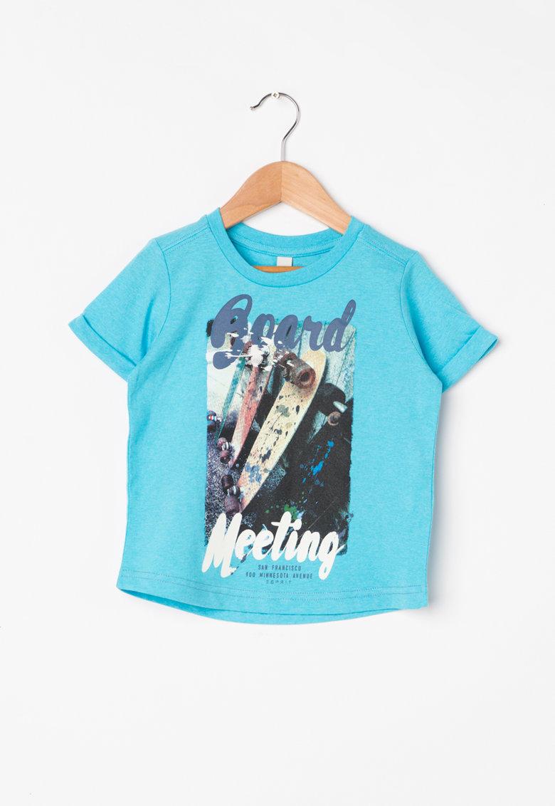 Tricou albastru aqua cu imprimeu de la Esprit