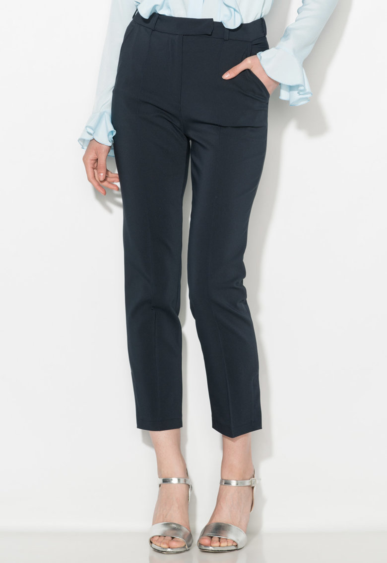 Pantaloni crop bleumarin inchis Zee Lane Collection