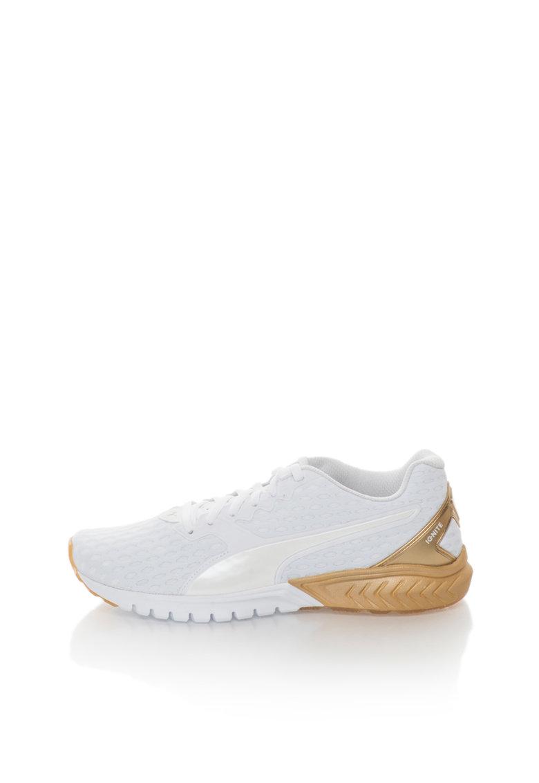 Puma Pantofi sport alb prafuit cu auriu Ignite Dual