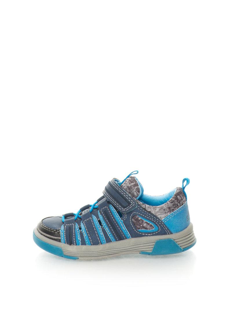 Pantofi sport albastru si gri cu decupaje