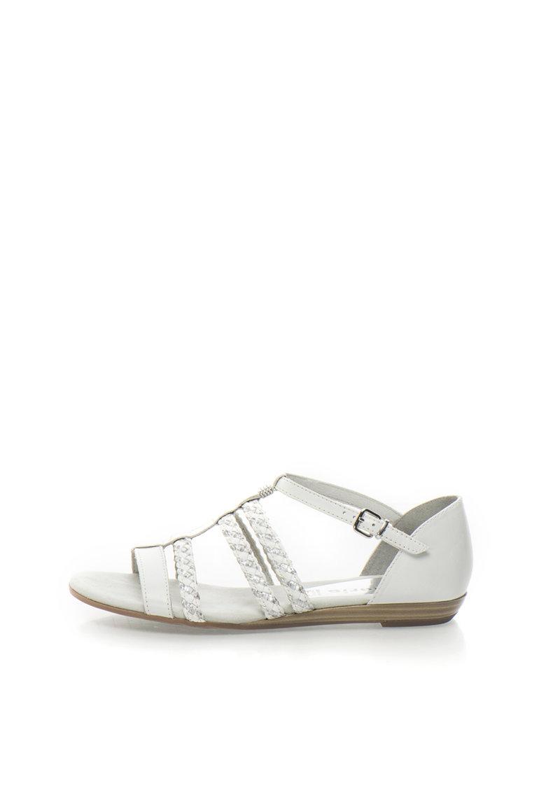 Sandale alb cu argintiu