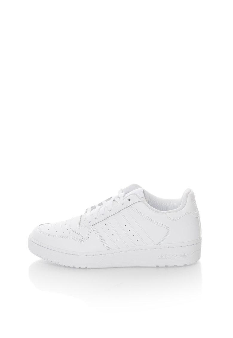 adidas Originals Pantofi sport albi cu piele Attitude Revive