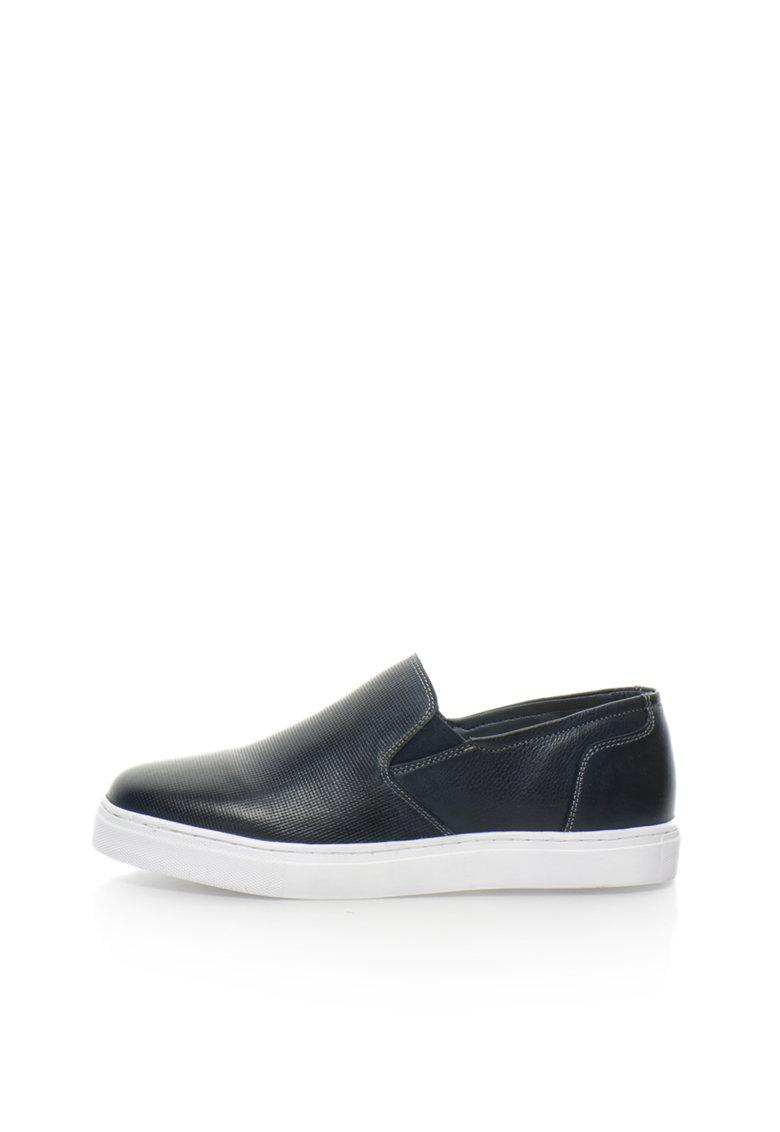 Zee Lane Pantofi slip-on bleumarin inchis de piele