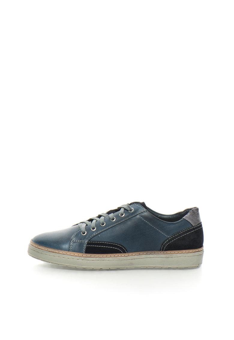 Zee Lane Pantofi sport albastru petrol cu bleumarin de piele