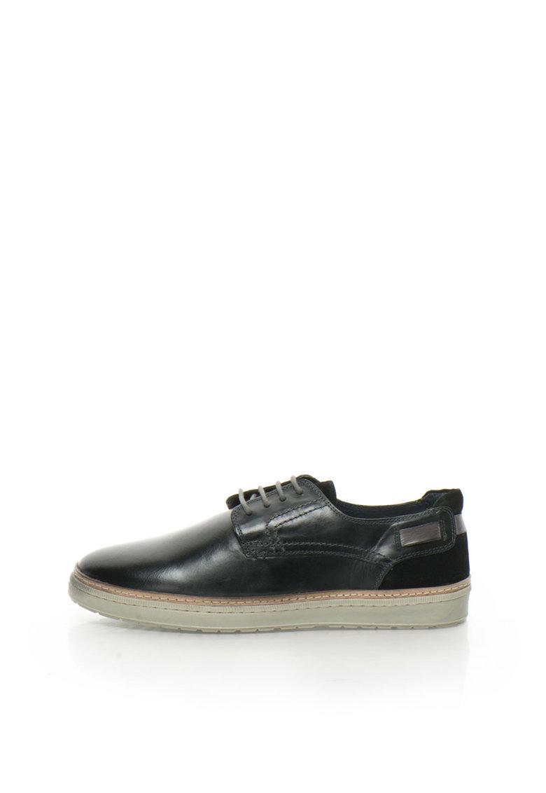 Zee Lane Pantofi casual negri de piele