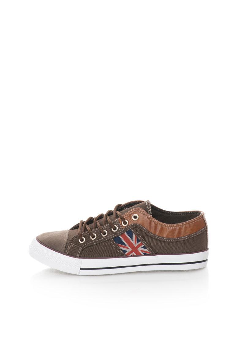 Pantofi sport maro din panza