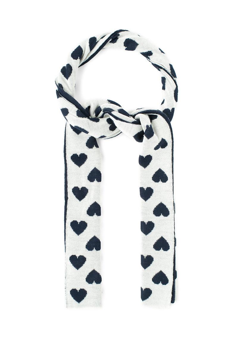 Moschino Cheap and Chic Fular grej cu bleumarin inchis din amestec de lana