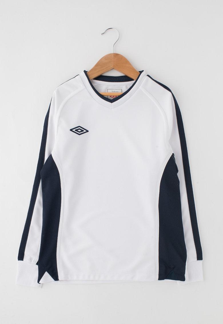 Bluza sport alb cu bleumarin inchis de la Umbro