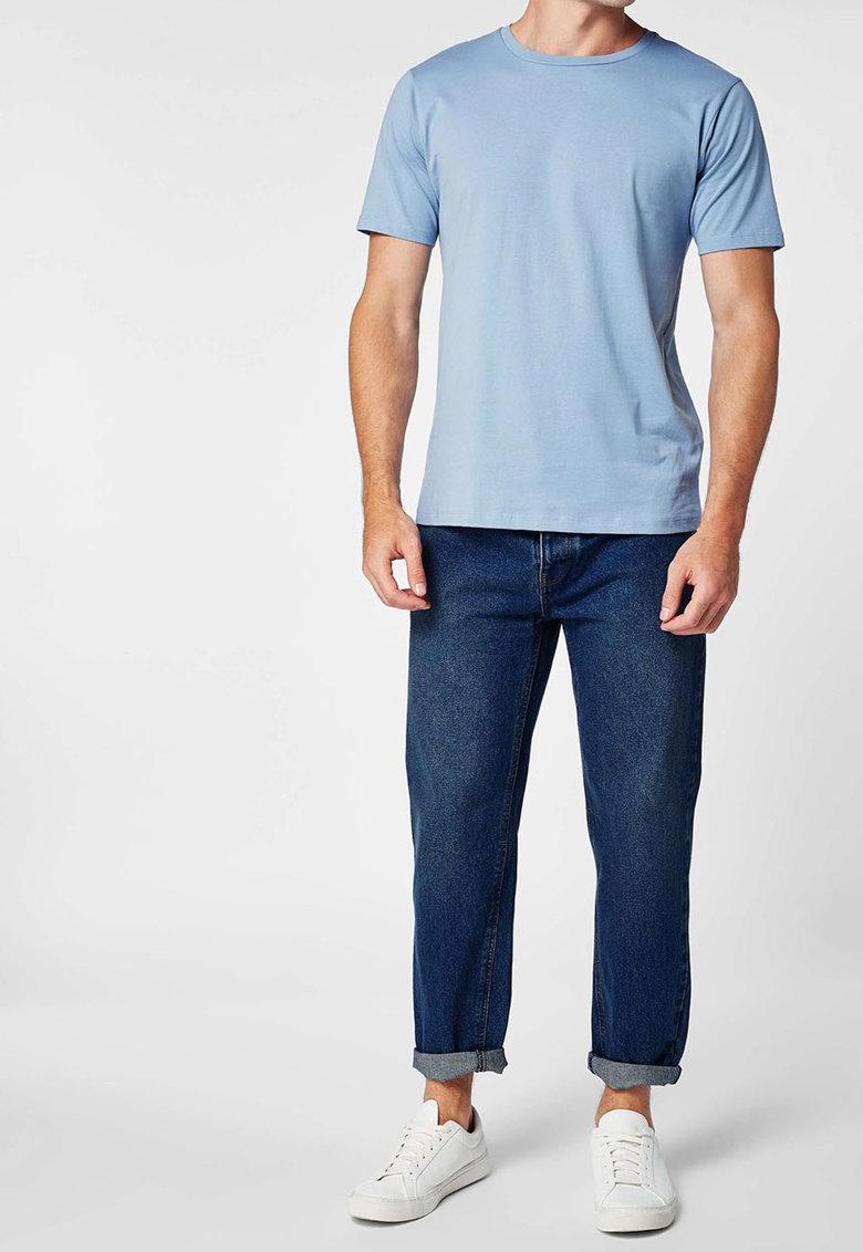 Tricou regular fit cu decolteu la baza gatului de la NEXT 466690-BLUE