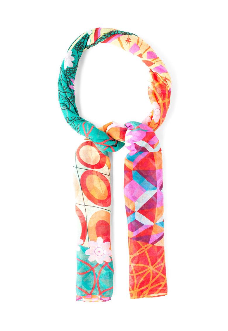 DESIGUAL Esarfa multicolora cu diverse imprimeuri Annelise