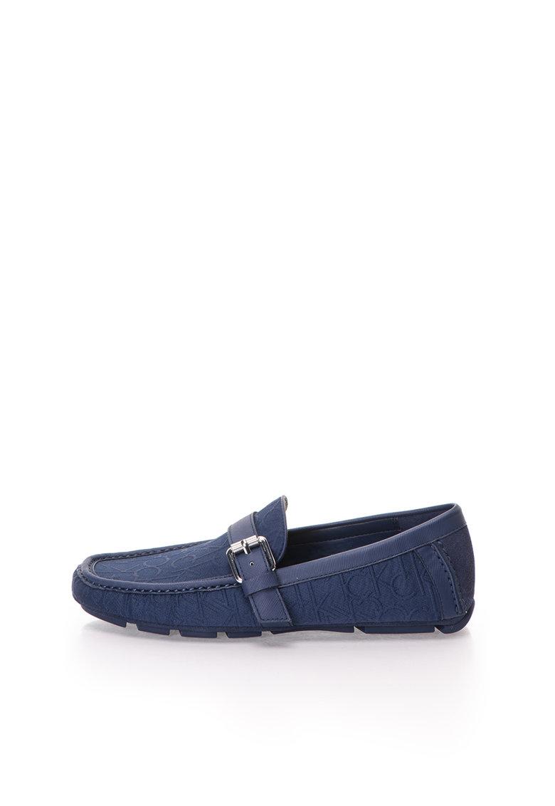 Calvin Klein Pantofi loafer bleumarin cu model logo Tyrus