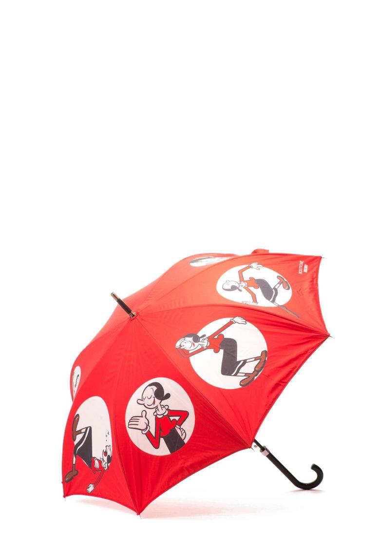 Moschino Umbrela rosie cu imprimeu inspirat de Olive Oyl