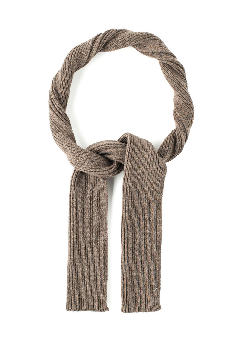Fular maro sepia tricotat din lana merinos de la United Colors of Benetton 1402U0121-511