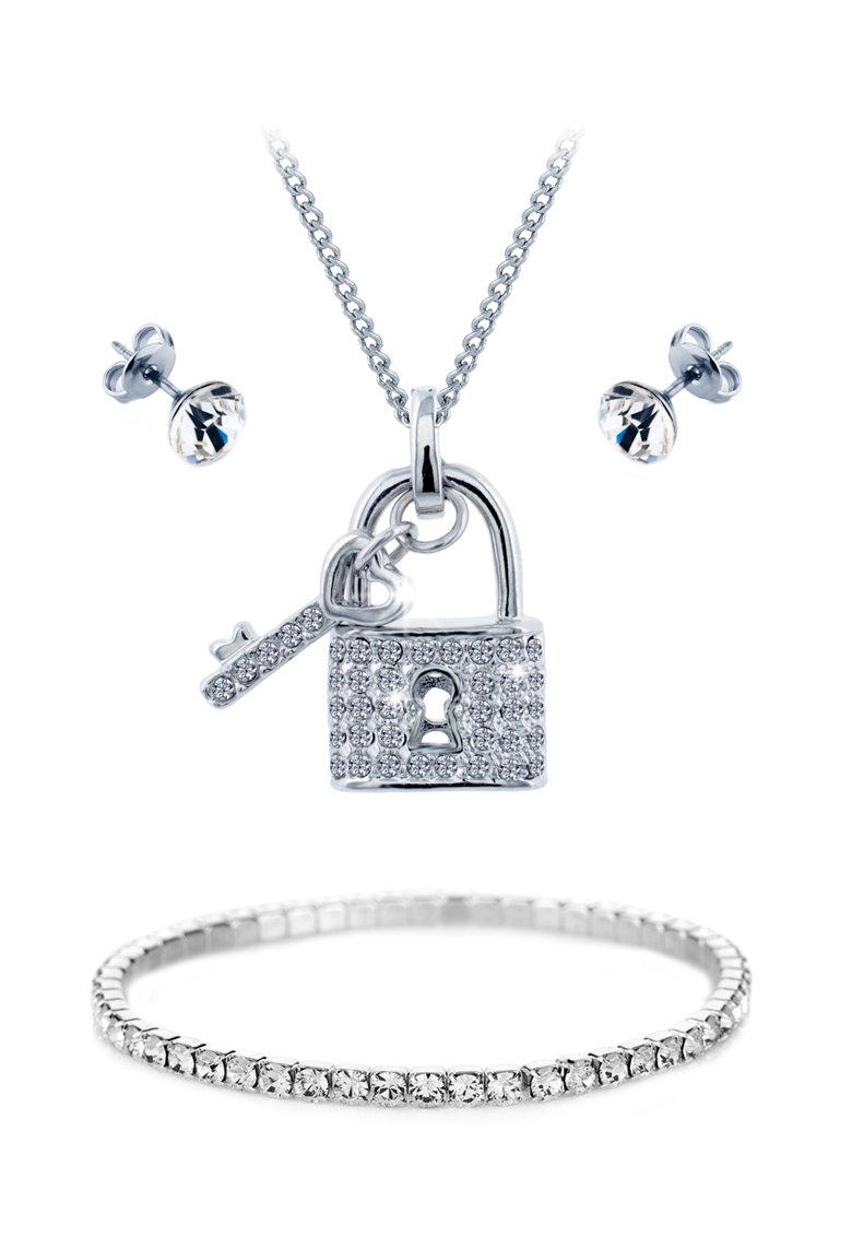 Diamond Style Set de bijuterii cu cristale Swarovski®  Padlock