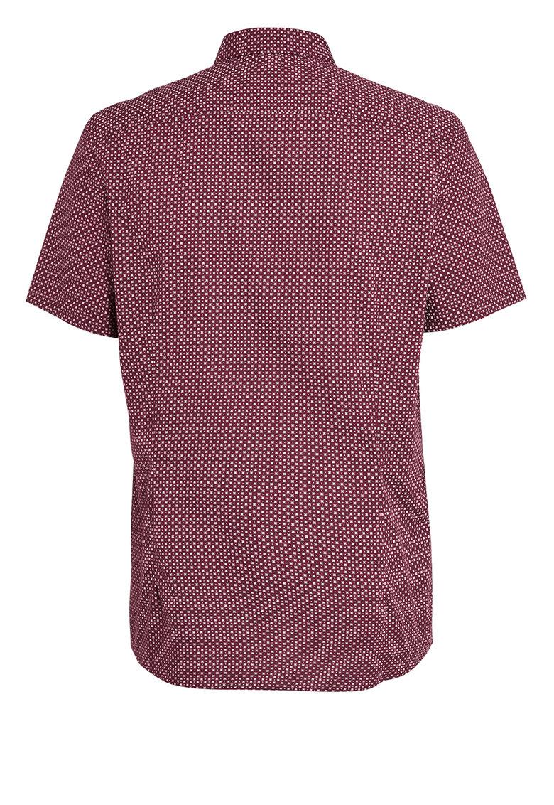 NEXT Camasa rosu Bordeaux si alb cu maneci scurte
