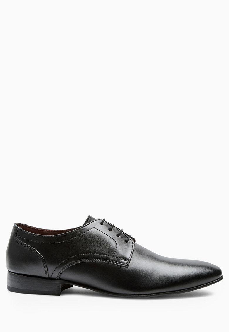 Pantofi derby negri de piele