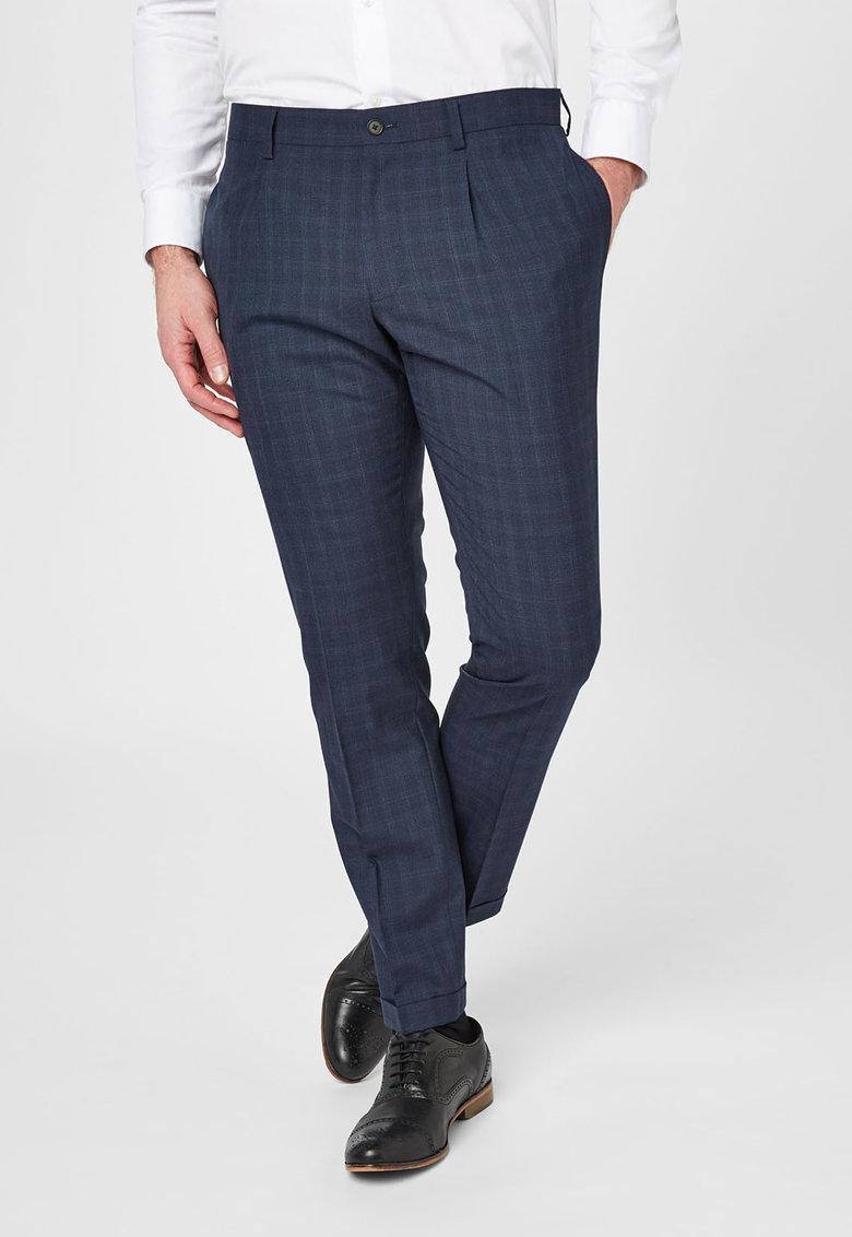 NEXT Pantaloni eleganti bleumarin in carouri