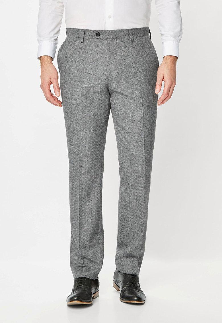 NEXT Pantaloni eleganti gri cenusa