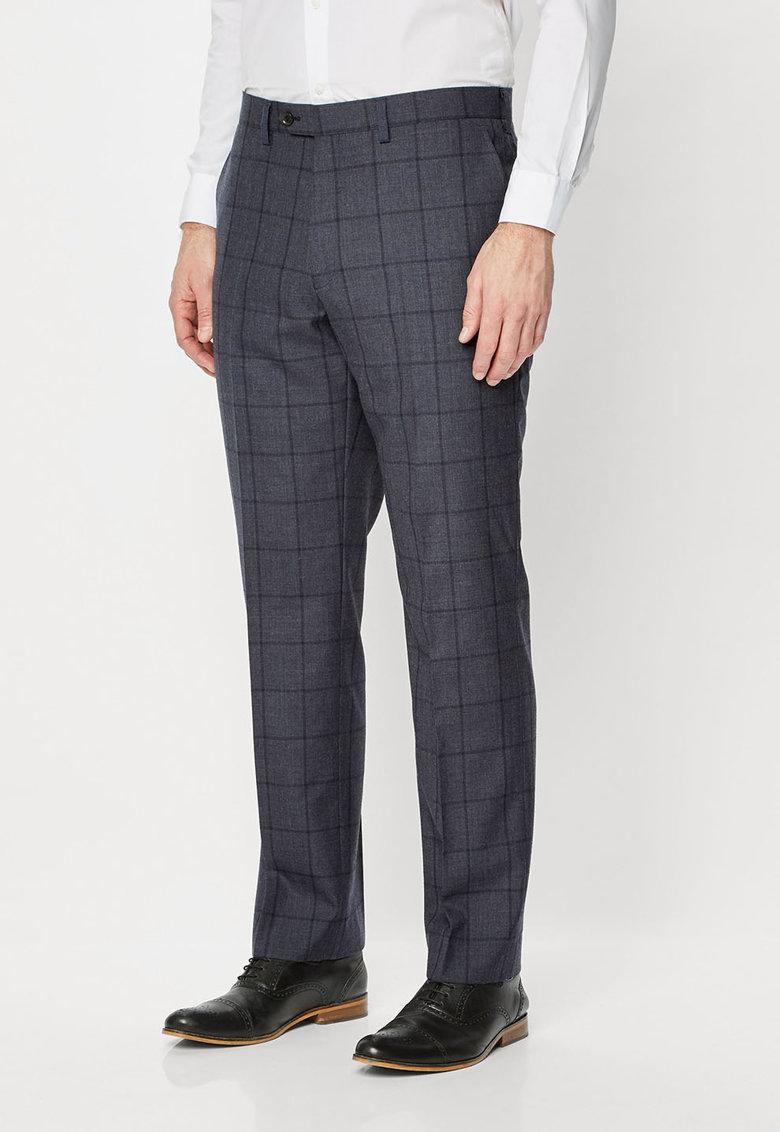 NEXT Pantaloni eleganti regular fit albastri din lana