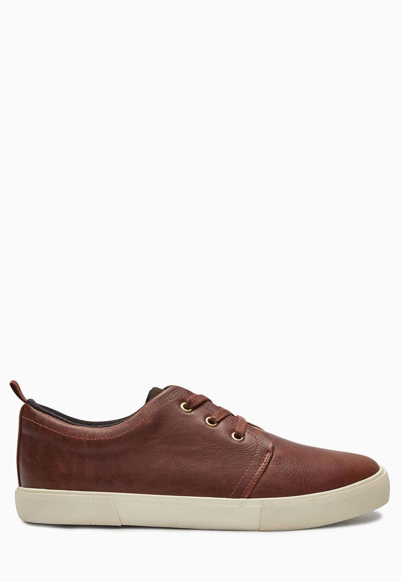 Pantofi sport maro de piele sintetica de la NEXT