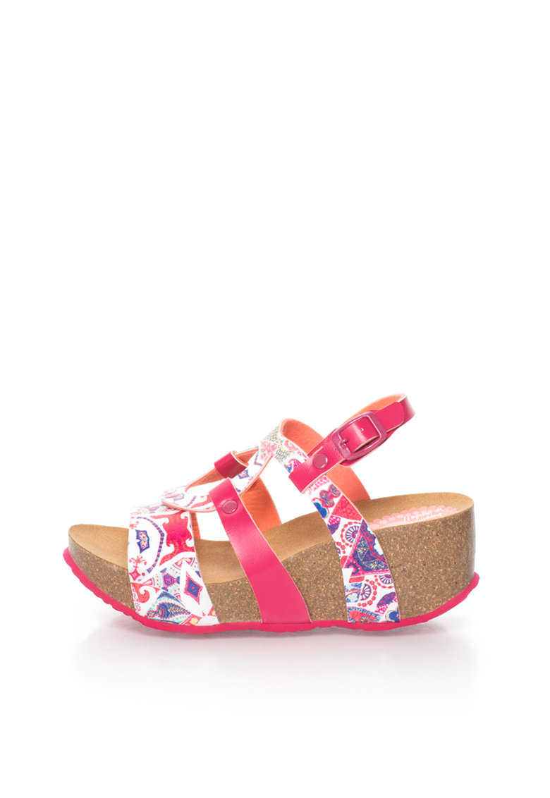 Desigual Sandale wedge multicolore Hearts