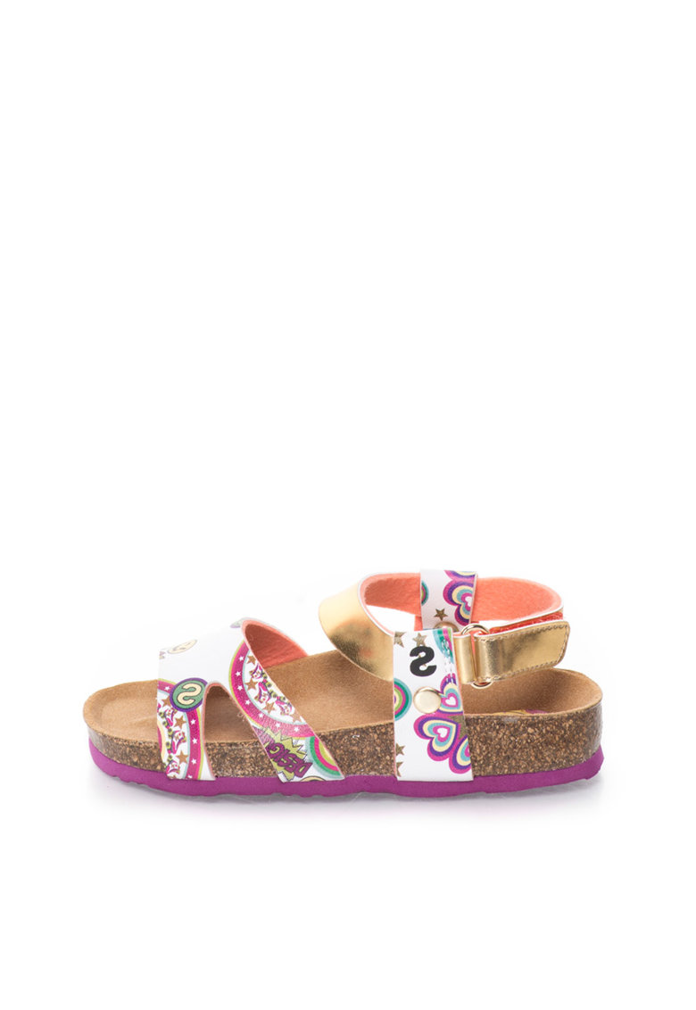 Desigual Sandale cu model grafic multicolor