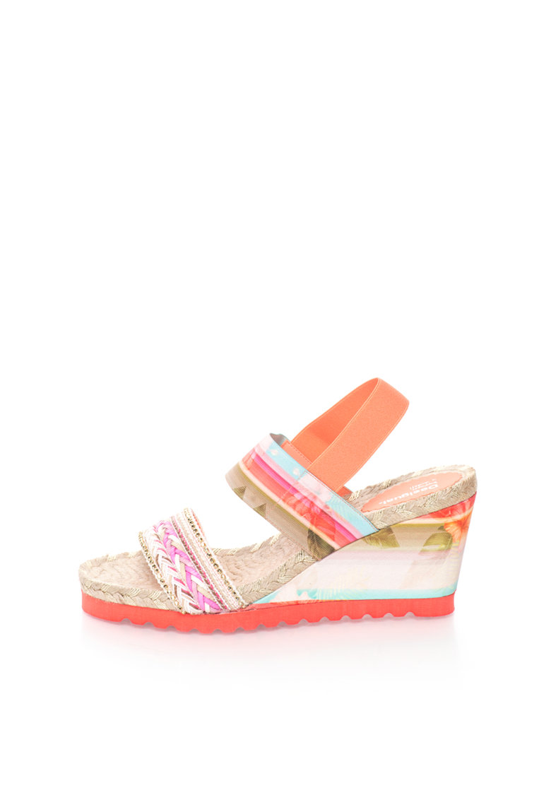 Sandale wedge multicolore Ibiza