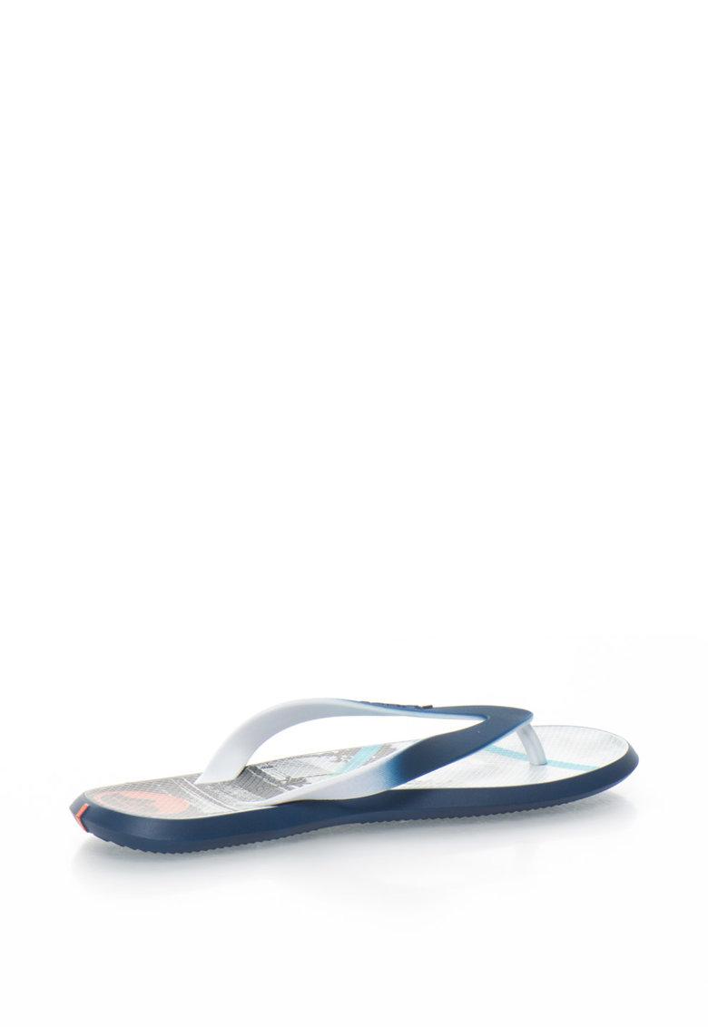 Papuci flip-flop cu talpa interioara cu imprimeu Energy