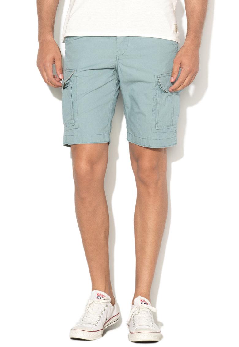 Pantaloni scurti cargo comfort fit albastru prafuit Citade de la JackJones