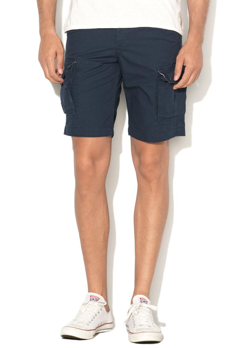 JackJones Pantaloni scurti cargo comfort fit bleumarin Preston