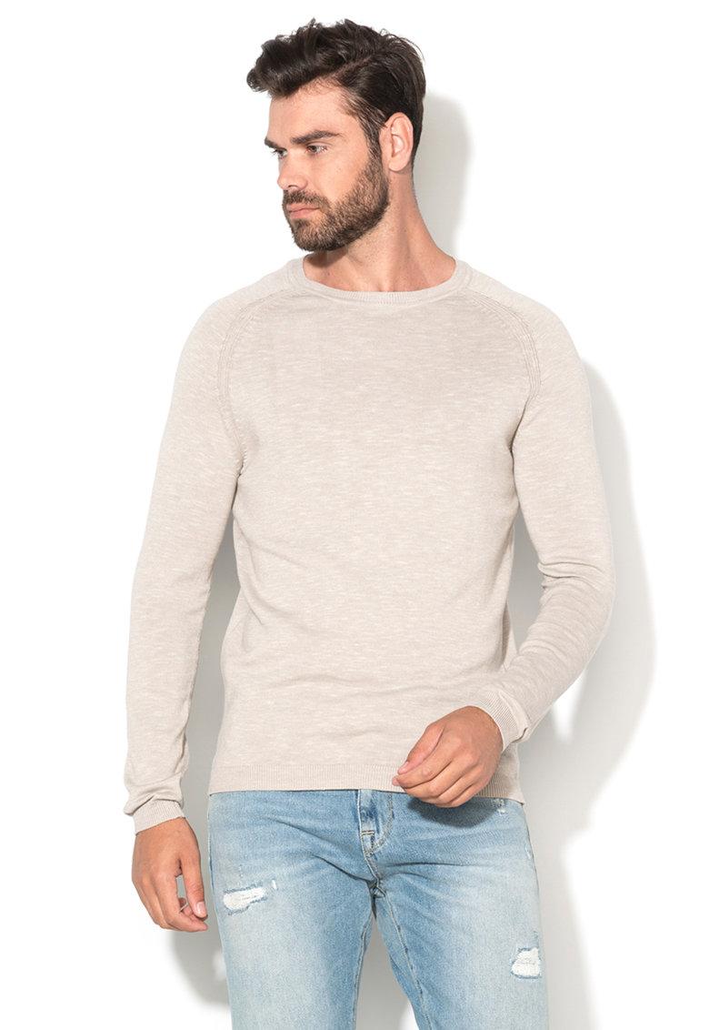 Selected Homme Pulover grej melange tricotat fin Tristan