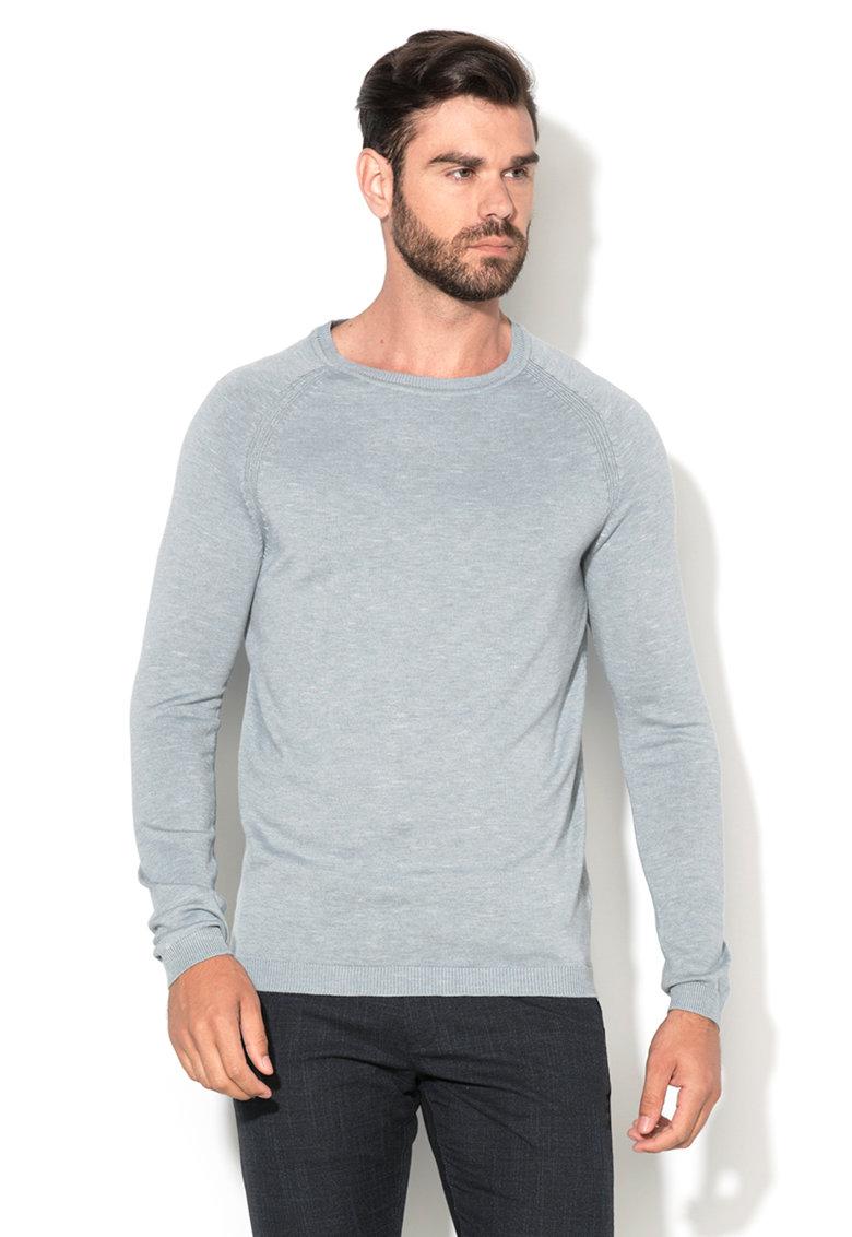 Selected Homme Pulover gri cenusa melange tricotat fin Tristan