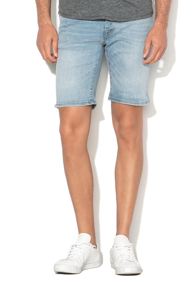 Pantaloni scurti bleu regular fit din denim Alex de la Selected Homme