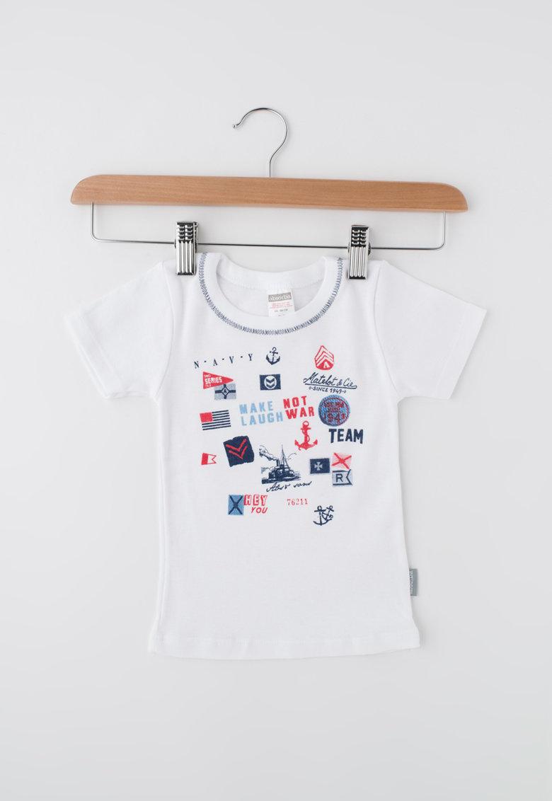 Absorba Tricou alb cu imprimeu grafic