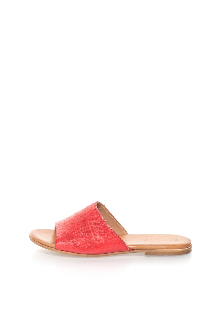 Zee Lane Papuci rosii texturati de piele